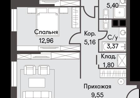 Продаётся 2-комнатная квартира, 98.1 м²