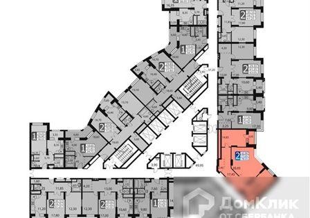 Продаётся 2-комнатная квартира, 81.5 м²