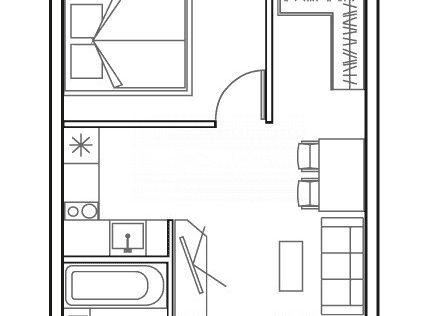 Продаётся 1-комнатная квартира, 43.1 м²