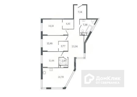 Продаётся 4-комнатная квартира, 109 м²