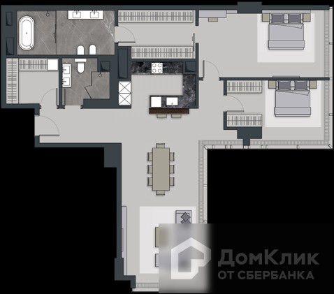 Продаётся 4-комнатная квартира, 133.2 м²